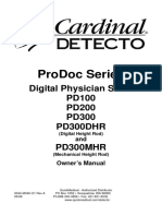 Detecto Manual Detecto Pd100 Pd200 Pd300