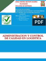 Administracion y Control de Calidad en Logistica