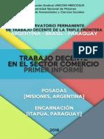 Primer Informe Trabajo Decente en el Sector Comercio Posadas/Encarnación