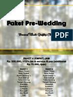 Paket Pre Wedding   TWGC 2018