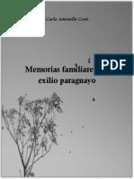 Cossi, Carla. Memorias Familiares de Exilio Paraguayo