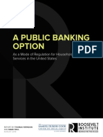 Public Banking Option as a Mode of Regulation for Household Financial Services in the United States