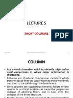 5 - Short Columns