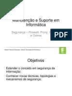 Apresentação - IDS, IPS, Honeypot, DMZ, ISO27000.ppt