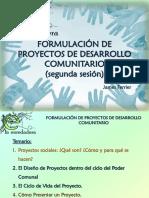 Formulación de Proyectos de Desarrollo Comunitario II
