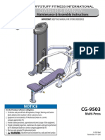 CalGym Multi-Press (CG-9503) Owner's Manual