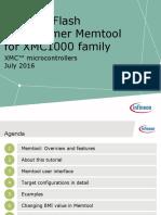 Infineon TOOL Tutorial Memtool XMC1 TR v01 00 En