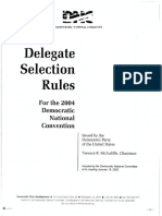 Delegate Selection Rules for the 2004 Democratic National Convention