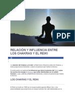 Relación y Influencia Entre Los Chakras y El Reiki