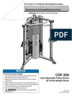 Evolution Dual Adjustable Pulley System (CDP-300) Owner's Manual