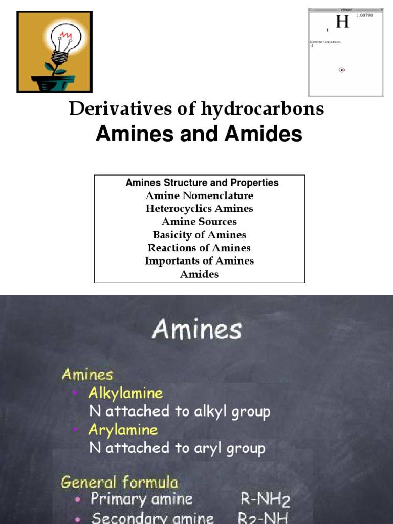 Amine Amide | Amine | Amide