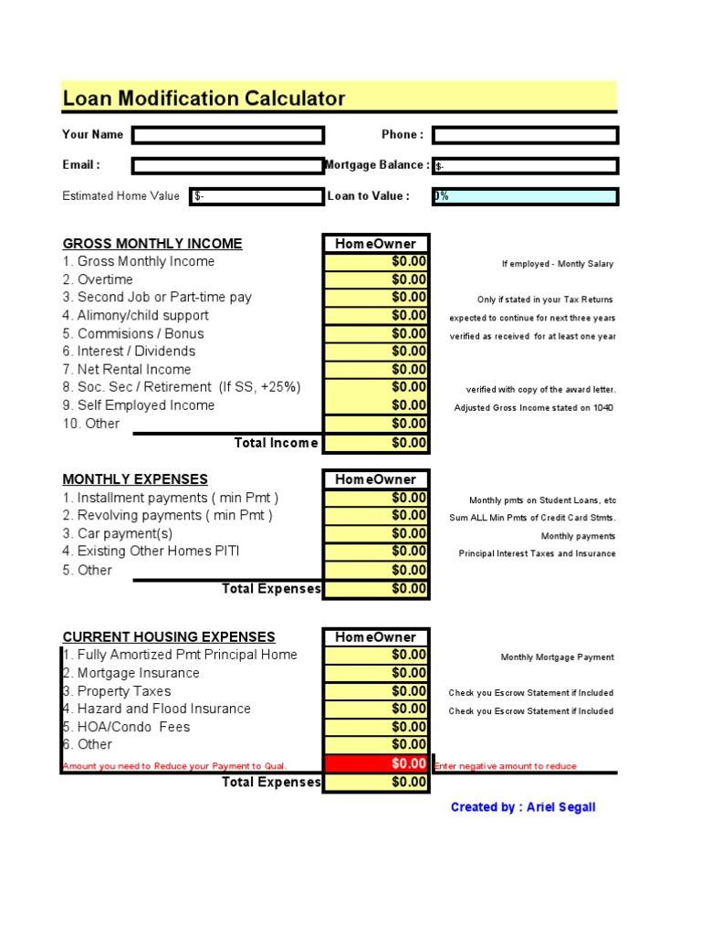 mortgage loan modification calculator artndesign co