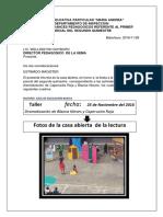 17 Informe de La Casa Abierta de La Lectura Dramatizacion 9no Azul