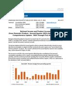 BEA - GDP Second Quarter 2018 - First Estimate