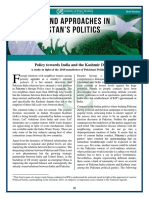 Policy towards India and the Kashmir Dispute [Issues and Approaches in Pakistan's Politics]