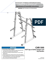 Evolution Half Cage (CHR-500) Owner's Manual