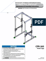 TuffStuff's Evolution Power Cage (CPR-265) Owner Manual