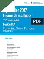Informe Regional Aprender 2017 Secundaria - Nea 0