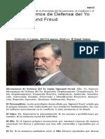 Los Mecanismos de Defensa Del Yo Según Sigmund Freud – Ѱ Psicovalero