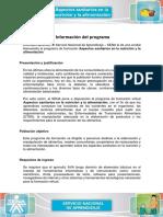 Informacion Del Programa Aspectos Sanitarios