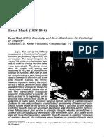Analisis de Las Sensaciones Ernst Mach