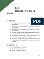 História da África - Unidade 2 (Licenciatura em História - Claretiano)
