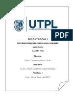 Informe Permeabilida CARGA VARIABLE
