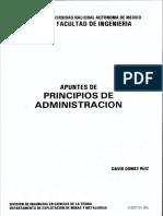Apuntes de Principios de Administracion