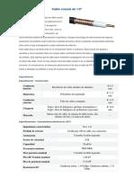 Cable Coaxial de 1medio