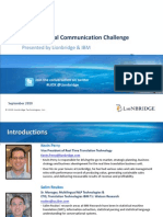 Solving the Global Communication Challenge