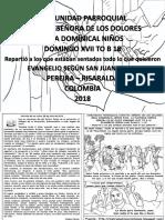HOJITA EVANGELIO NIÑOS DOMINGO XVII TO B 18 BN