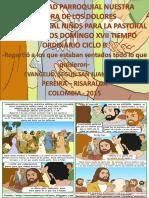 HOJITA EVANGELIO NIÑOS DOMINGO XVII TO B 18 SERIE