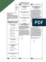 Macon County Democratic Party Sample Ballot 8/2018
