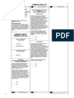 Macon County Green Party Sample Ballot 8/2018