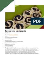 Spirale Cu Ciocolată