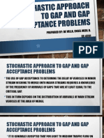 Stochastic Approach to Gap and Gap Acceptance Problems