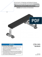 TuffStuff Evolution Flat Bench (CFB-305) Owner's Manual