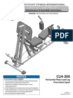 TuffStuff Evolution Horizontal Leg Press / Hack Squat (CLH-300) Owner's Manual