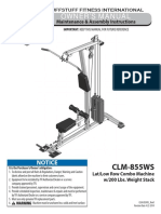Evolution Lat / Low Row Combo (CLM-855WS) Owner's Manual
