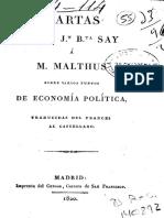 Cart as de Say a Malthus