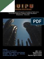 QUIPU Revista Científica PNFCP UPTAEB Año 1 Nº 1 Noviembre 2016