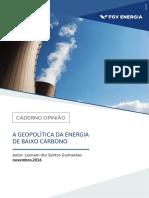 A GEOPOLÍTICA DA ENERGIA DE BAIXO CARBONO