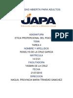 Tarea 4 Etica Profercional Del Pricologo