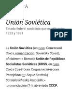 Unión Soviética - Wikipedia, La Enciclopedia Libre