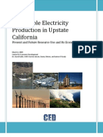 Renewable Electricity Production in Upstate California