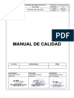 ICOT MAN GCIA 001 Manual de Calidad