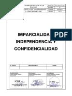 ICOT-InS-GTH-001 Procedimiento de Imparcialidad, Independencia y Confidencialidad