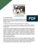 Ingeniería en Biotecnología