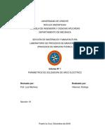 Efecto de la variación de parámetros de ejecución sobre la soldadura de arco eléctrico