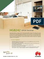 Huawei EchoLife HG8242(GPON) Brief Product Brochure(2011!01!20)